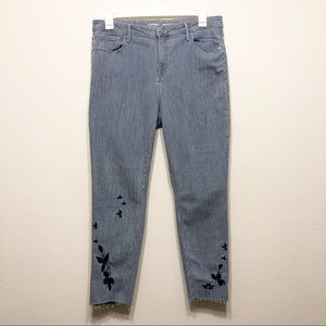 Old Navy Juniper Pants w/ Embroidered floral. 16.